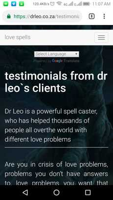 Testimonials from dr leo`s clients