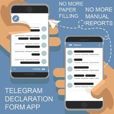 COVID19 TELEGRAM FORM DECLARATION APP