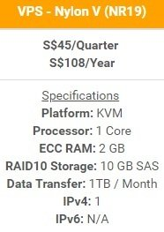 Nylon V VPS (Virtual Private Server / Virtual Machine)
