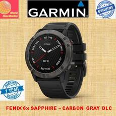 GARMIN FENIX 6x SAPPHIRE - Carbon Gray DLC With Black Band