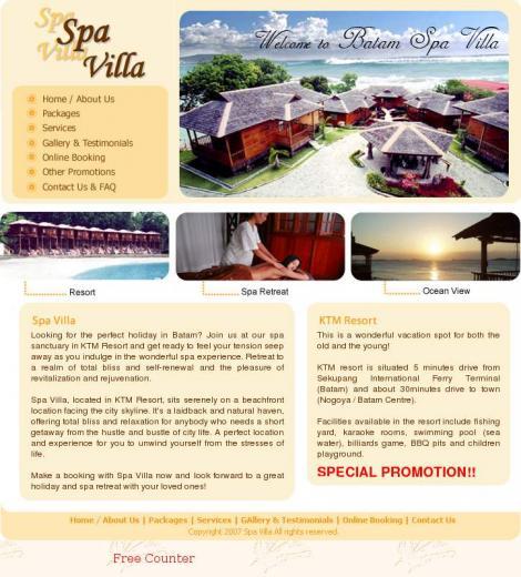 Batam Spa Villa • Singapore •