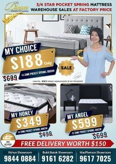 QUEEN SIZE MATTRESS STARTING FROM $188. FREE DELIVERY.