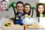 Custom 3D Beach Wedding Couple Figurines