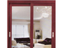 Red Wood Grain Aluminium Sliding Door