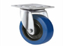 industrial castersBlue elastic rubber wheel caster wheel swivel or fix